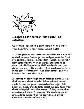 Back-to-School Math Inspirations