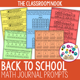 Back to School: Math Journal Prompts (For Older Students)
