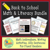 Back to School Math and Literacy Activities Bundle
