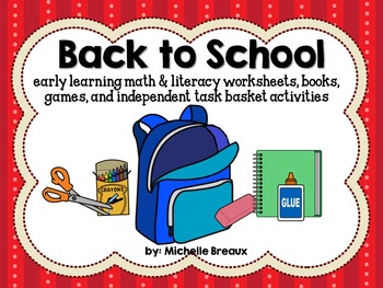 Back to School Math & Literacy Center Activities {Early Ch