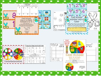 Back to School Math & Literacy Pack (Kinder CCSS-16+ centers)