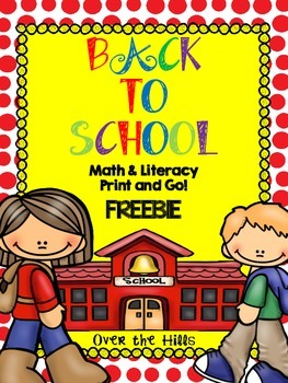 Back to School Math & Literacy Print & Go Freebies {2nd Grade CCSS}