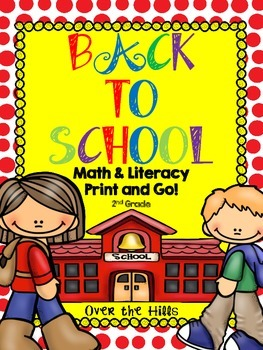 Back to School Math & Literacy Print & Go {2nd Grade CCSS}