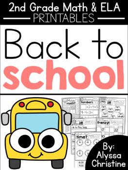 2nd Grade Back to School
