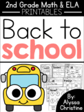 2nd Grade Back to School Printables
