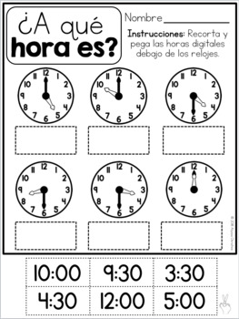 2nd Grade Back to School in SPANISH