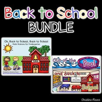 Back to School Centers for Kindergarten