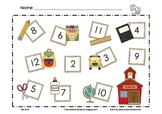 Back to School Math Mat ~ Roll and Cover (or) Color Game,