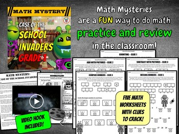 Beginning of the Year | Back to School Math Mystery Activity (GRADE 1)