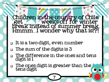 Back to School Math Mystery Numbers