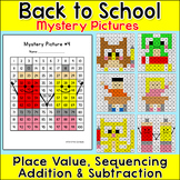Hundreds Chart Hidden Pictures - Differentiated Math Activities - School Theme