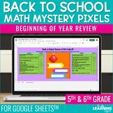 Back to School Math Mystery Pixels Google Sheets™ | Distan