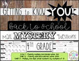 Back to School Math Mystery Questions **4th Grade**