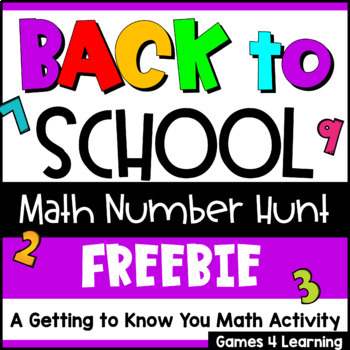 Back to School Math [Beginning of the Year Activity for Math]