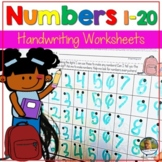 Back to School   Math Number Writing Practice 1-20 Worksheets