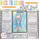 First Week of School Back to School Math Activities