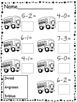 Back to School Math Packet