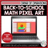 Back to School Math Pixel Art | Order of Operations