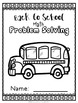 Back to School Math Problem Solving Pages - Add, Subtract,