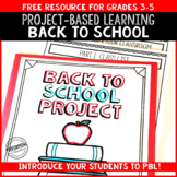 Back to School Math: Project Based Learning 3rd 4th 5th 6th