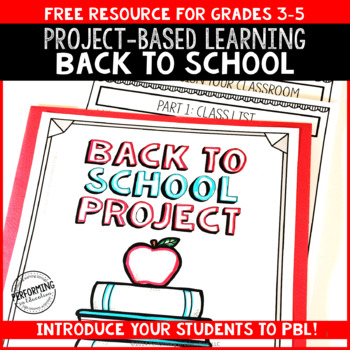 Back to School Math: Project Based Learning 4th 5th
