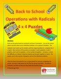 Back to School Math Puzzles - Mixed Operations with Radicals