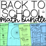 Back to School Activities: Beginning of the Year Math Acti