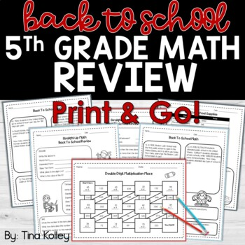 Back to School Math Review 5th Grade