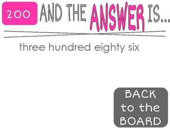 Back to School Math Review Game 4th Grade