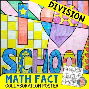 First Week of School Activity: Division Math Fact Review Collaboration Poster
