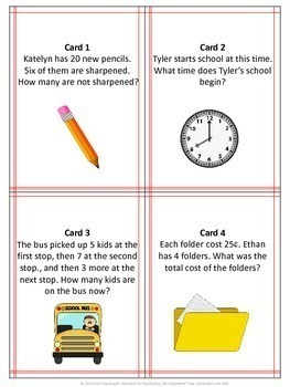 Back to School Math Review Scavenger Hunt (with and without QR codes)