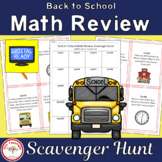Back to School Math Review Scavenger Hunt (with and withou
