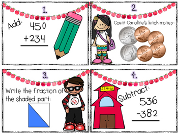 Back to School Math Review Scoot