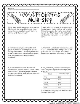 Back to School Math Review Worksheets & Activities