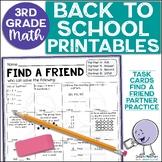 Beginning of the Year Math Activities   3rd Grade (2nd Grade Review)