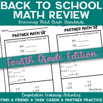 Back to School Math Activities | 4th Grade (3rd Grade Review)