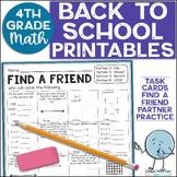 Beginning of the Year Math Activities   4th Grade (3rd Grade Review)