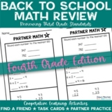Back to School Activities 4th Grade Math Reviewing 3rd Grade Standards