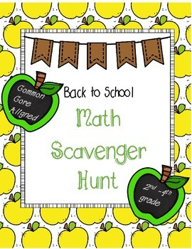 Back to School Math Scavenger Hunt