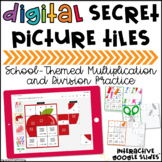 Back to School Math Secret Picture Tiles: Multiplication &
