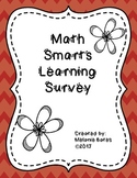 Back to School!  Math Smarts Learning Survey
