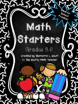 Back to School Math Starters