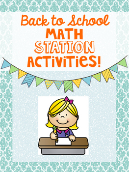 Back to School Math Station Activities