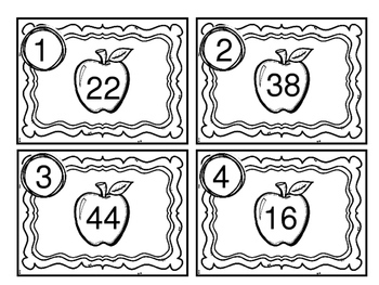 Back to School Math Station Rounding to the Nearest Ten