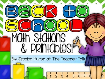 Back to School Math Stations & Printables