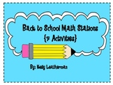 Back to School Math Stations {7 Activities}