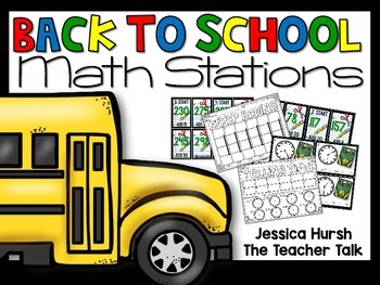 Back to School Math Stations - Third Grade