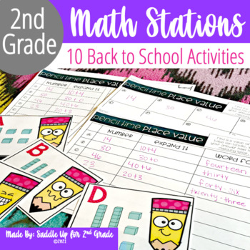 Back to School Math Stations for August and September