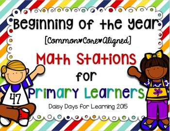 Back to School Math Stations for Primary Learners {Common Core Aligned}
