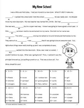 Math Stories - First Grade